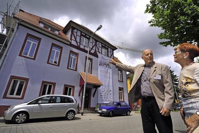Altes Schulhaus in Haslach: Sanierung soll bis Jahresende beendet sein