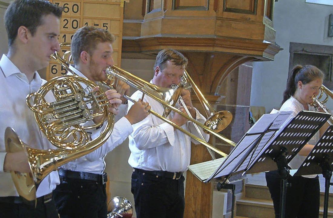 Das Ensemble Querblechein  in der Evangelischen Kirche    | Foto: R. Frey