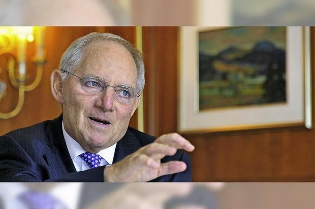 Schäuble über das geplante Freihandelsabkommen mit den USA