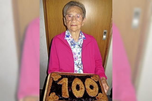 Älteste Frau Schliengens feiert 100.