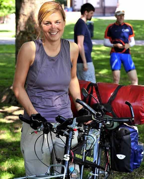 Kurz vor dem Start: Bea Blumrich    Foto: T. Kunz