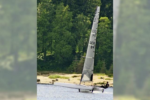 Wenn Segelboote übers Wasser fliegen