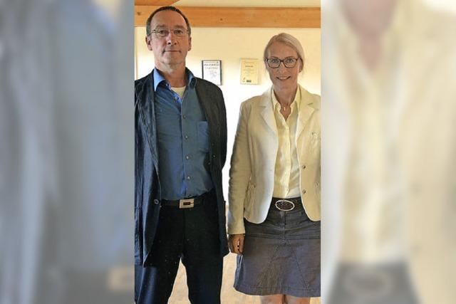 Frank Link und Elisabeth Klein mit neuem Amt