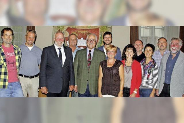 Der neue Ortschaftsrat von Oberrotweil ist verpflichtet