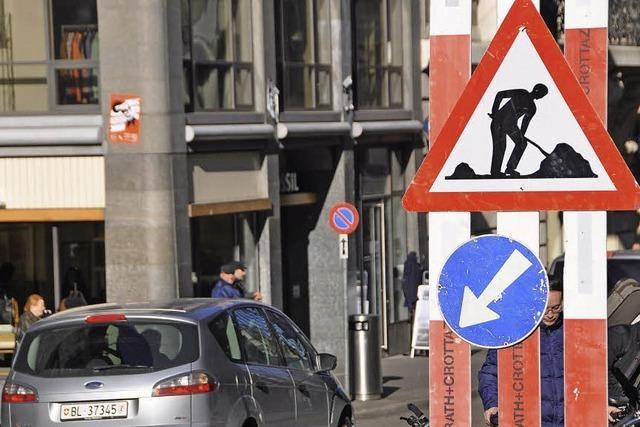 Auf Basels Straßen wird viel gebaut