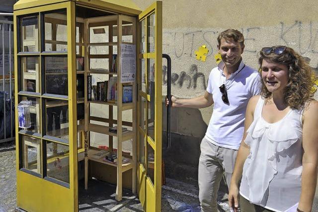 Telefonzelle für Leselustige