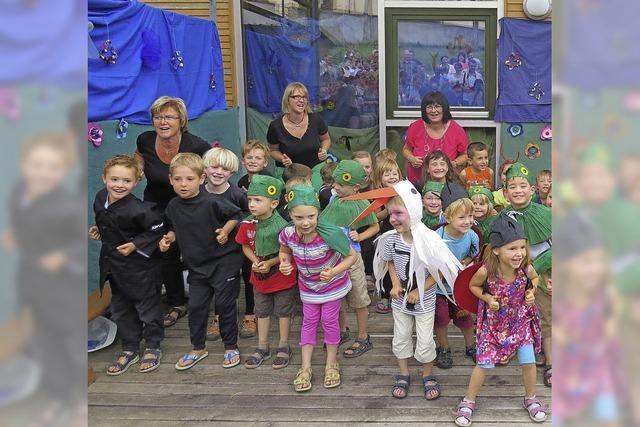 Kindergarten St. Josef feiert ein Wiesenfest