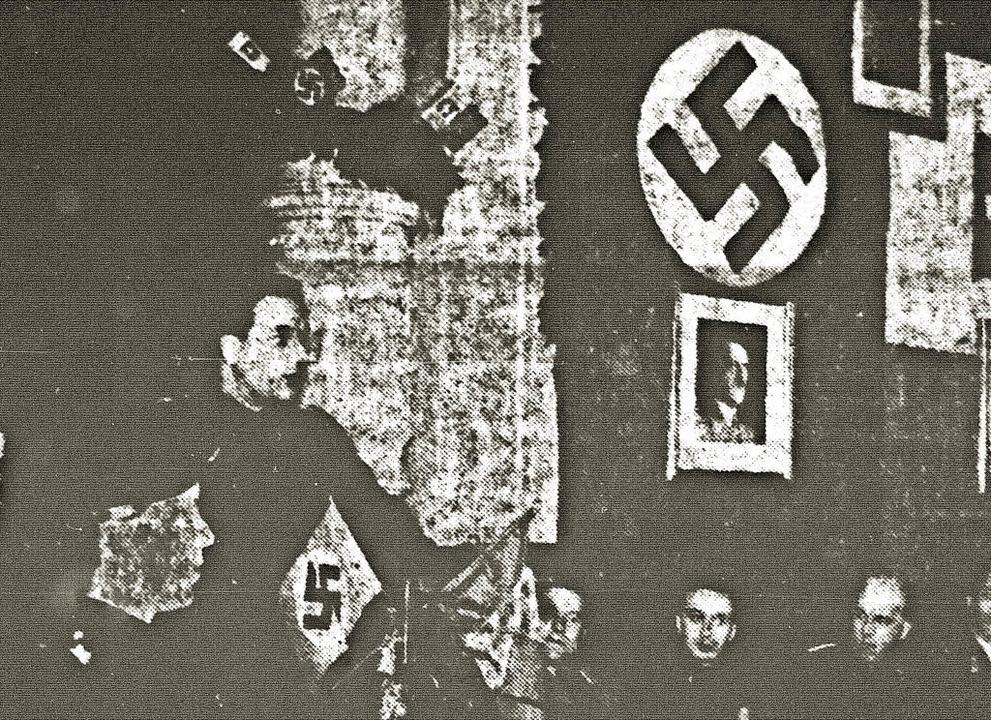 Vizekonsul Spinelli bei einer Rede im Faschistenhaus in Freiburg    Foto: privat
