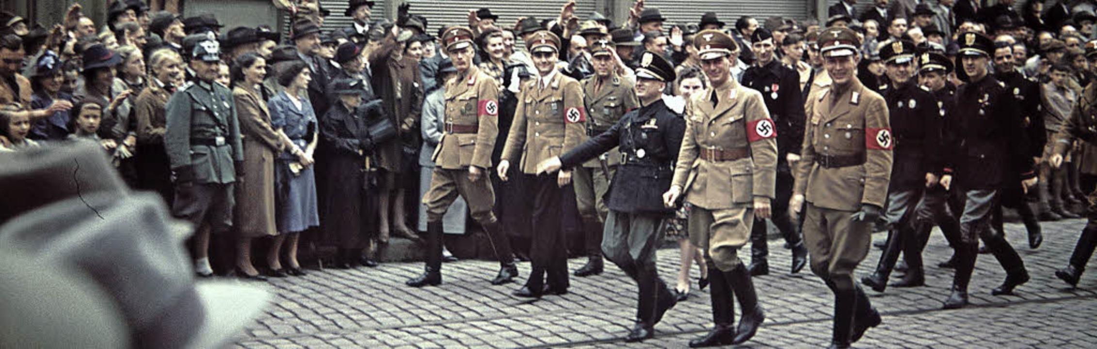 Funktionäre der Faschistischen Industr...r-Straße (heute Kajo) am 3. Juli 1939.    Foto: privat