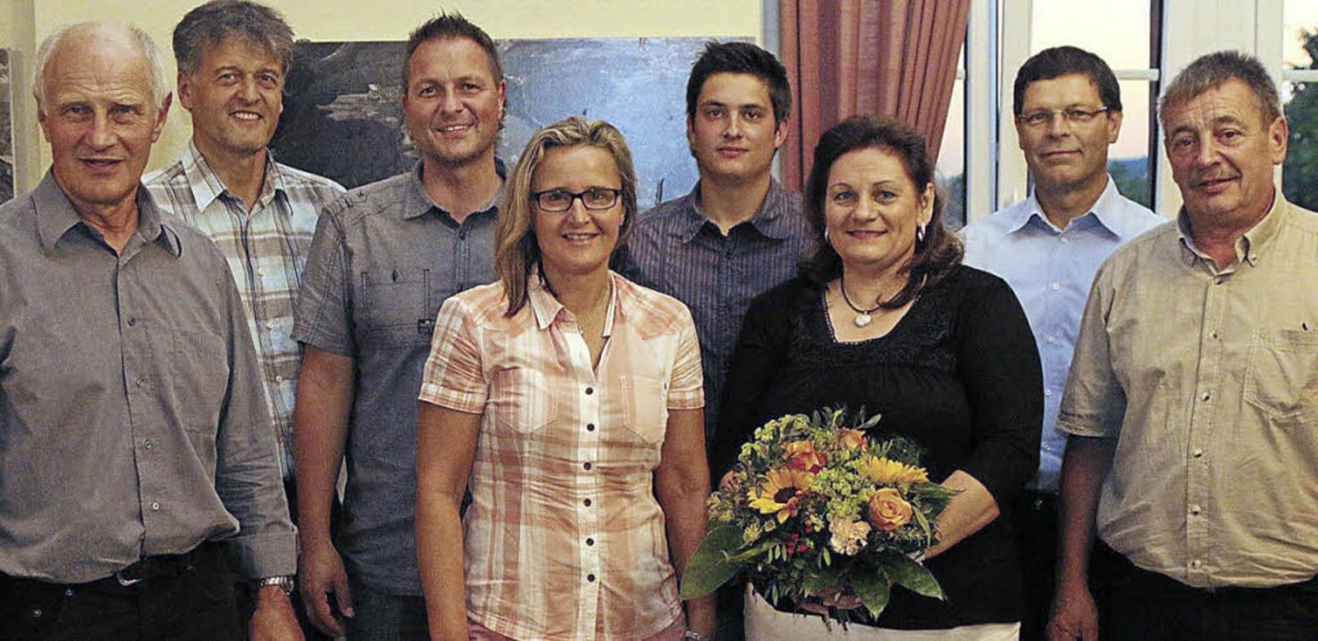 Der neu zusammengesetzte Ortschaftsrat..., Wolfgang Ganter und Dieter Trinler.     Foto: Hans-Jürgen Hege