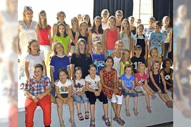 Große Erleichterung beim Kinderchor