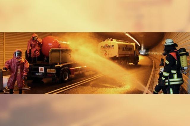 Heiße Probe für Ernstfall im Tunnel