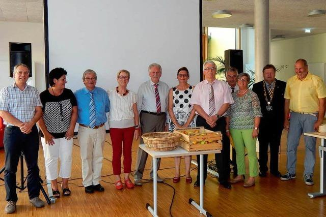Zehn Räte aus dem Gemeinderat Waldkirch verabschiedet