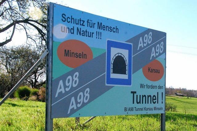 Bau der A98 östlich des Autobahndreiecks Hochrhein läuft zäh