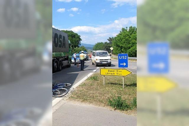 Dritter Unfall in Folge am Radwegende