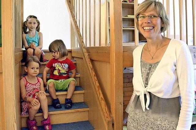 Neue Kindergartenleiterin schon mitten bei der Arbeit