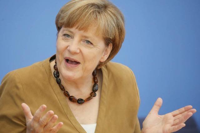 Angela Merkel geht optimistisch in den Urlaub