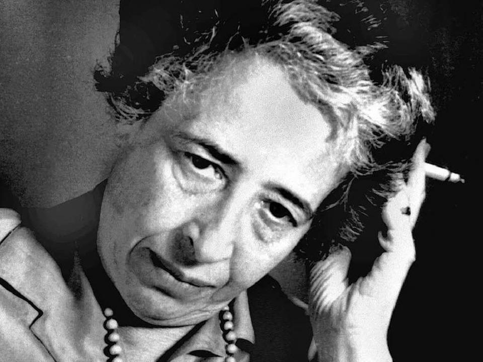 Ein Genie der Freundschaft: Hannah Arendt im Jahr 1963   | Foto: Dpa