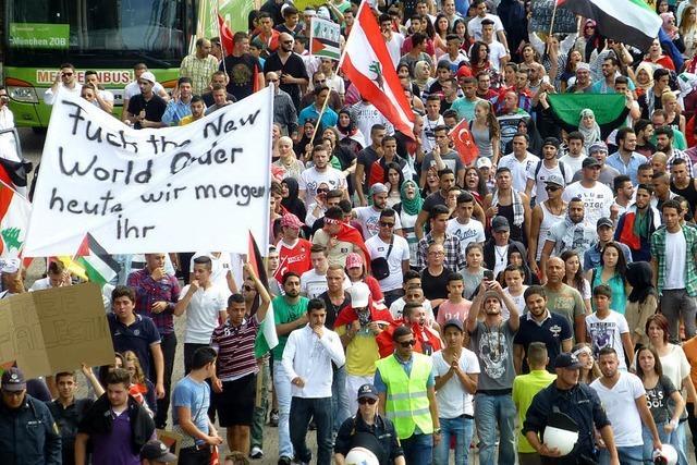 Demo gegen Israels Politik in der Freiburger Innenstadt