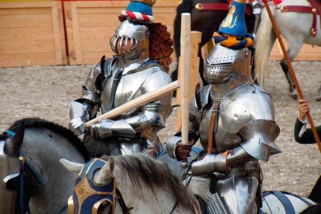 Stolze Ritter hoch zu Ross
