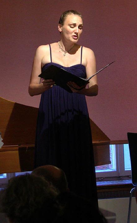 Sang ihre Arien mit glänzend hellem Timbre: Antonia Brouvé.   | Foto: adri