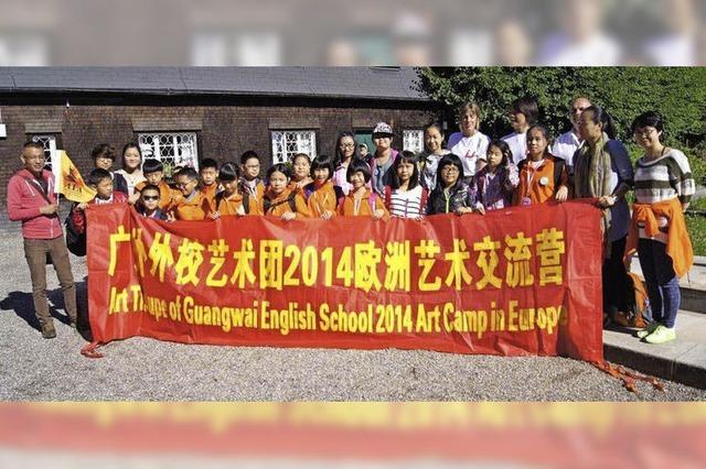 Chinesische Schüler zu Gast