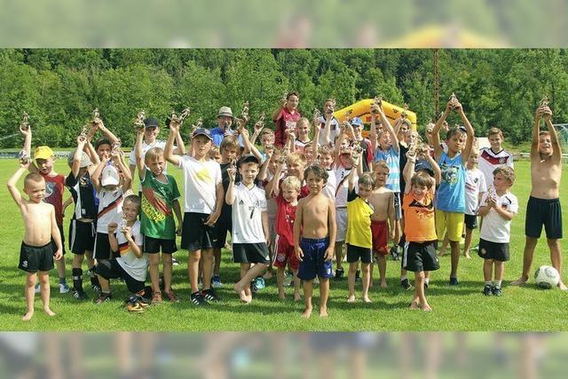 Rund 50 Kinder haben ihren Spaß beim Jugendtag
