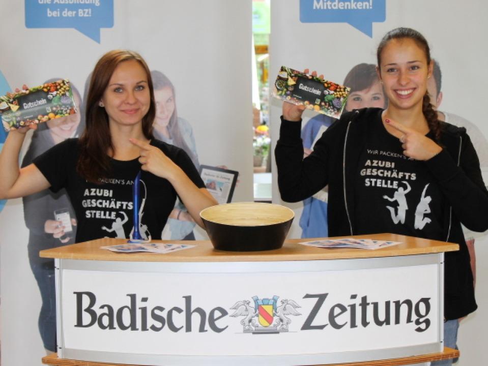 Wer den richtigen Dreh raus hatte, gewann einen Edeka-Gutschein.   | Foto: Raffael Brugert