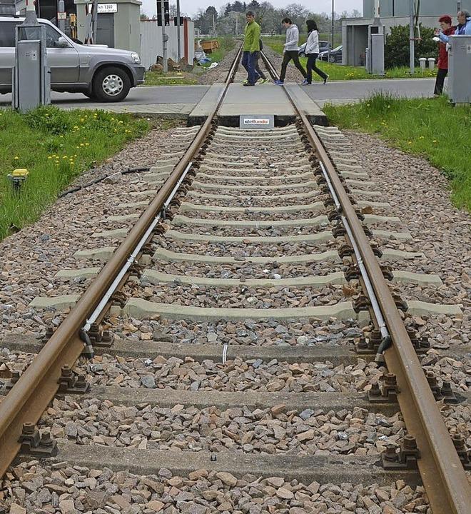 Nicht nur das Chanderli, sondern bald ... die Trasse der Kandertalbahn nutzen.   | Foto: LANGeLOTT