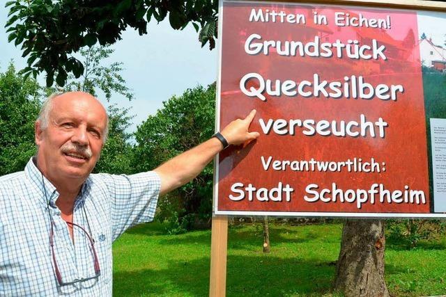 Hat die Stadt Schopfheim ein Grundstück mit Quecksilber verseucht?