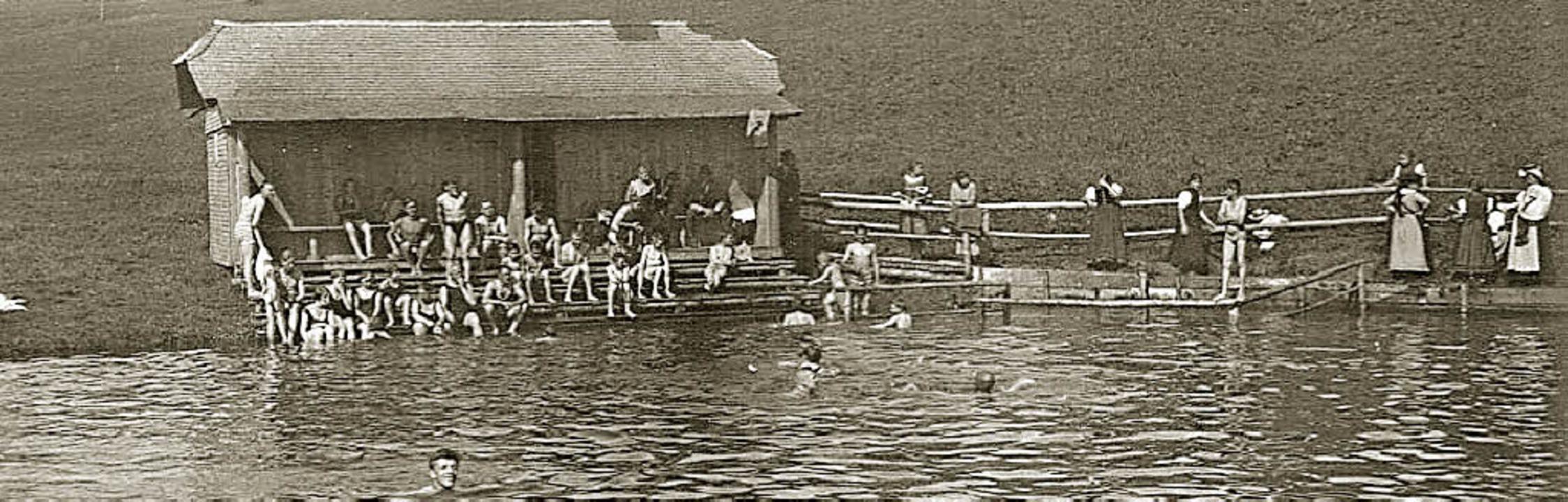 Schon immer ein großer Anziehungspunkt gewesen: der Badweiher in St. Märgen.    Foto: Alexandra wehrle