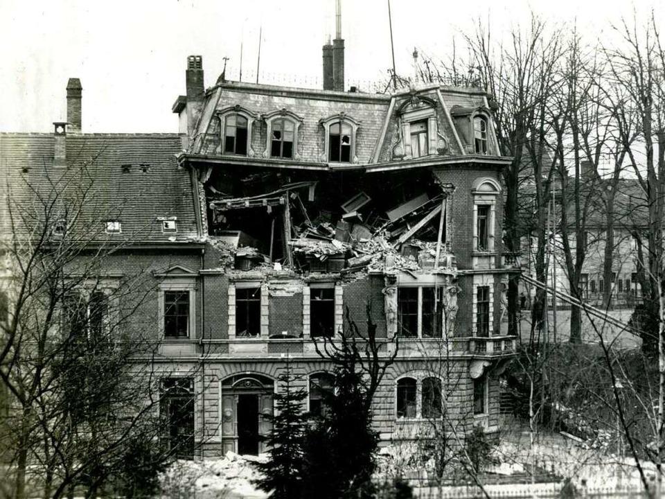 -Bombeneinschag im Verwaltungsgebäude ...er Himmelsbach in der Rempartstraße 16  | Foto: Stadtmuseum Freiburg