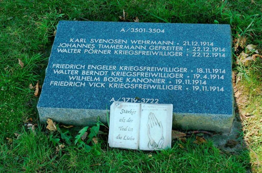 Grabstein in Langemarck  | Foto: amp