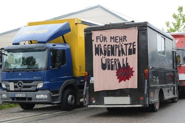Wagenburgler besetzen Gelände in Hochdorf