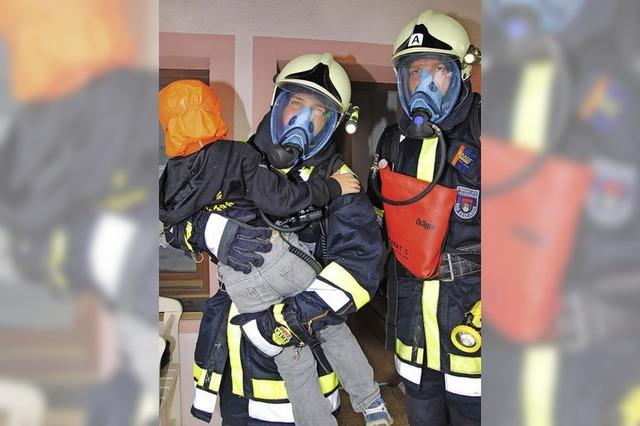 Die Feuerwehr ist auf Zack