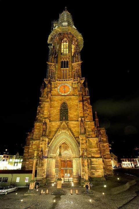So wird das Münster seit 2011 beleuchtet.  | Foto: Thomas Kunz