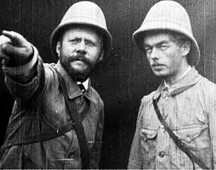 Robert Schwobthaler (links) und Albert Herr  | Foto: Staatsarchiv