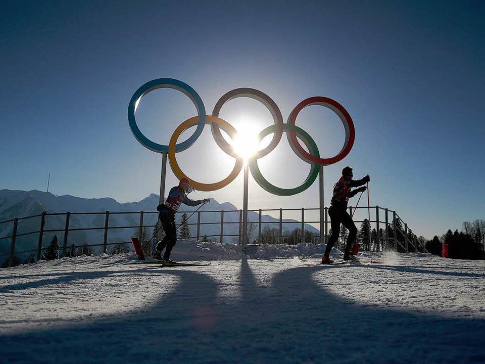 Viele junge Skilangläufer in der Mongolei träumen von Olympia.    Foto: dpa
