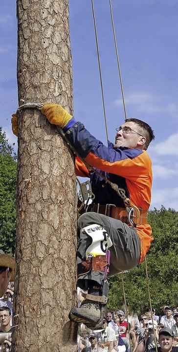 Klettern ist am Sonntag in Schuttertal...n Disziplinen für die Sportholzfäller.  | Foto: heidi Fössel