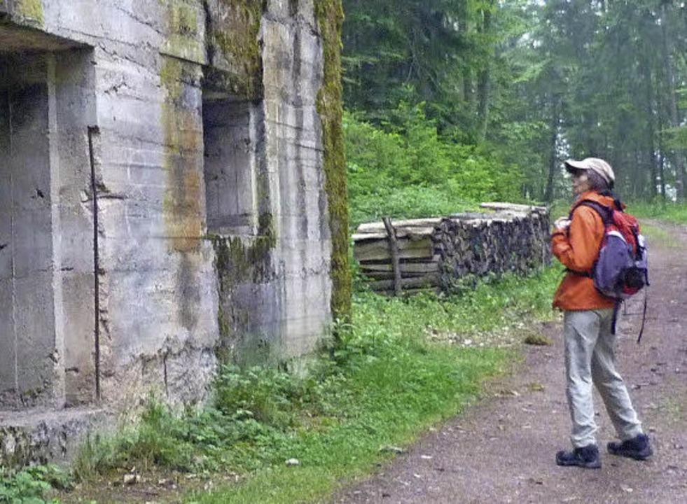 Einblick: deutscher Bunker am Reichackerkopf    Foto: Rolf Müller