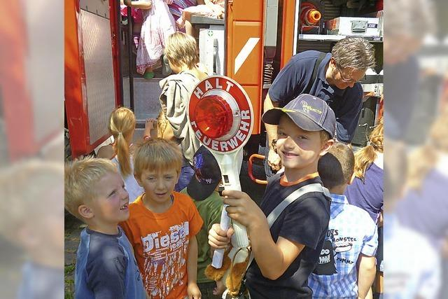 Begeisterung für Feuerwehr