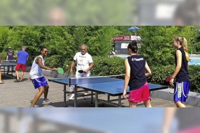 Tischtennis für die gute Sache
