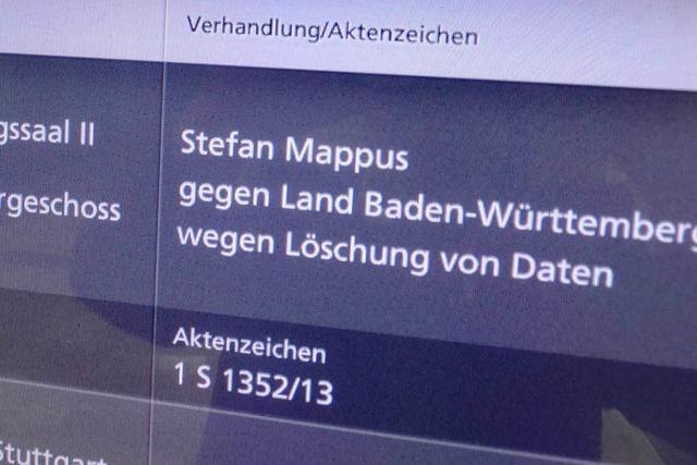 Mappus möchte E-Mails geheim halten