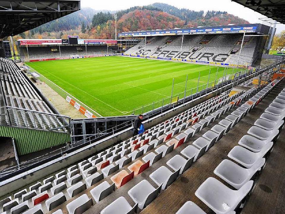 Blick aus der VIP-Loge des SC Freiburg...reiburgs Stadträte kostenlos genießen.  | Foto: Ingo Schneider