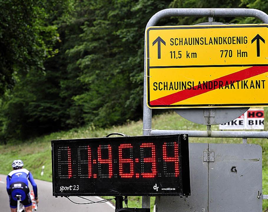 Nach 770 Höhenmetern ist keiner mehr Praktikant.  | Foto: Thomas Kunz
