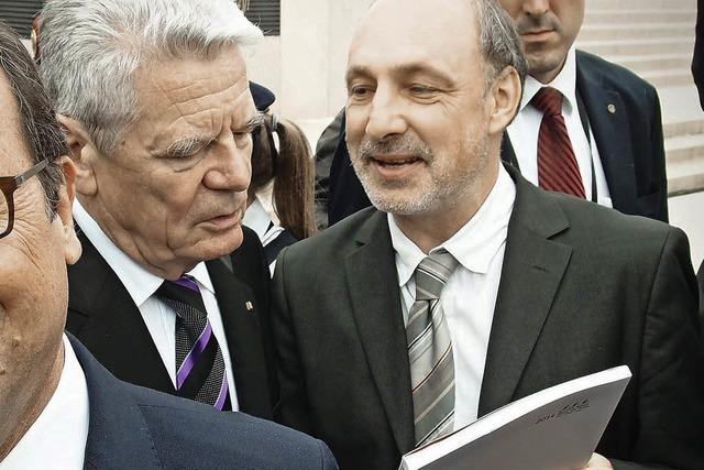 Dreiländermuseum weckt Joachim Gaucks Interesse