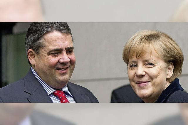 Merkel und Gabriel stehen allein auf weiter Flur