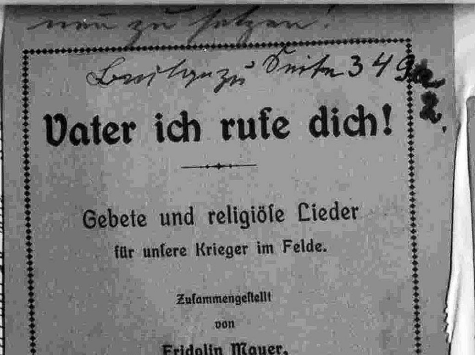 Mangelware an der Front: Katholische G...olin Mayer zusammengestelltes Exemplar  | Foto: Alexander Preker