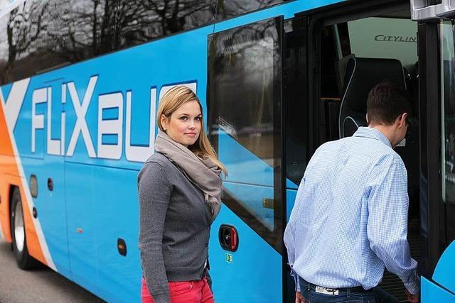 Fernbus macht Halt in Weil am Rhein