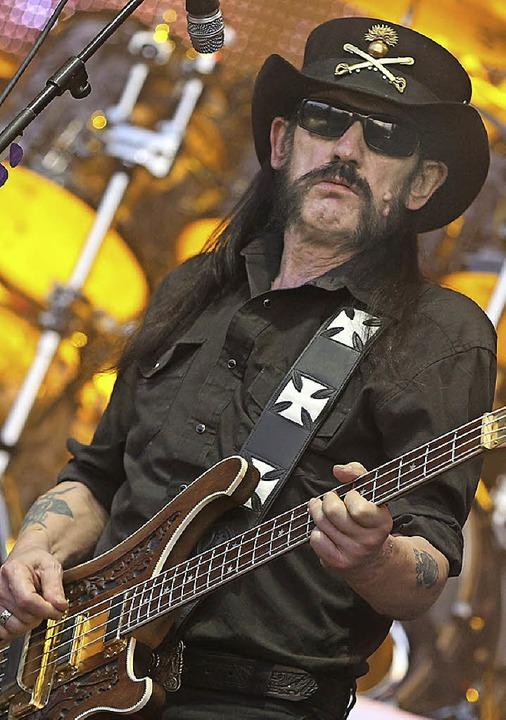 Lemmy Kilmister von der Band Motörhead: So gut wie alter Wein?    Foto: dpa